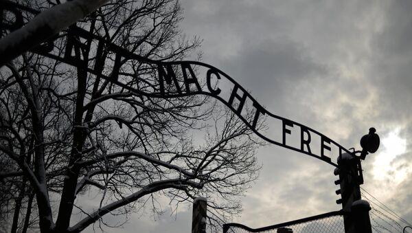 Центральные ворота бывшего концентрационного лагеря Аушвиц-Биркенау в Освенциме. - Sputnik France