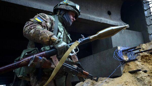 Украинский военный в деревне Пески - Sputnik France