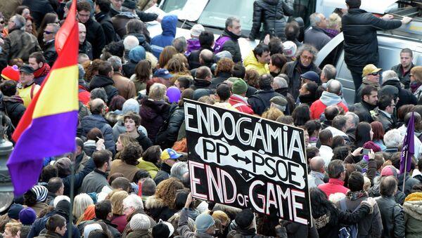 Espagne: des milliers de personnes manifestent contre l'austérité à Madrid - Sputnik France