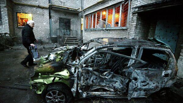 Donetsk après les bombardements de dimanche - Sputnik France