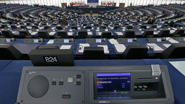A general view shows the plenary room of the European Parliament - Sputnik France