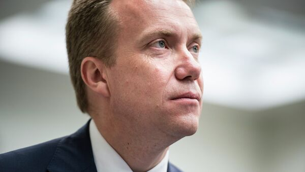 Norway's Minister of Foreign Affairs Børge Brende waits to speak at the Brookings Institution June 16, 2014 in Washington, DC - Sputnik France