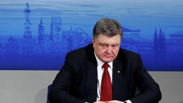 Président ukrainien Piotr Porochenko - Sputnik France