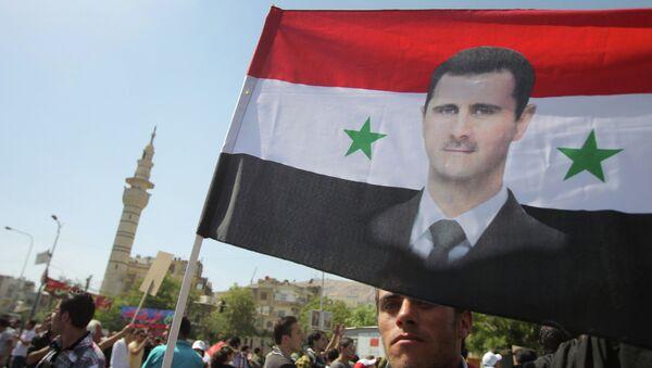Митинг в поддержку Башара Асада в Дамаске - Sputnik France