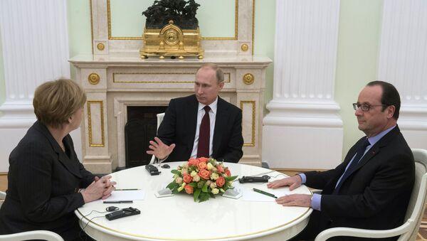 La rencontre Poutine-Merkel-Hollande à Moscou - Sputnik France