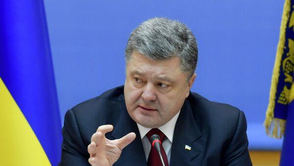 Ukrainian President Petro Poroshenko speaks during a government meeting in Kiev, February 11, 2015 - Sputnik France