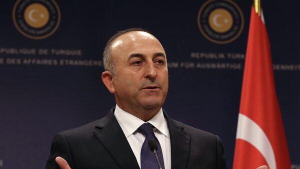 Le chef de la diplomatie turque Mevlüt Çavuşoğlu - Sputnik France