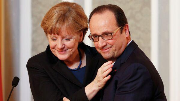 Ангела Меркель и Франсуа Олланд в Минске - Sputnik France