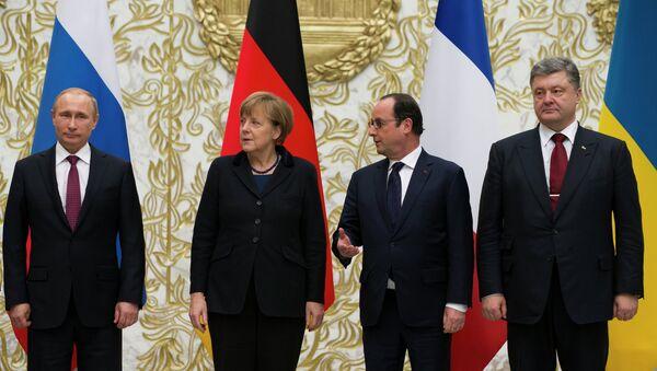 Встреча Путина, Меркель, Олланда и Порошенко в Минске - Sputnik France