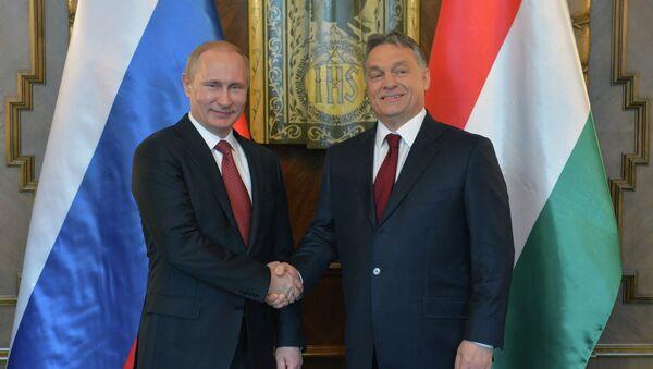 Vladimir Poutine et Viktor Orban - Sputnik France