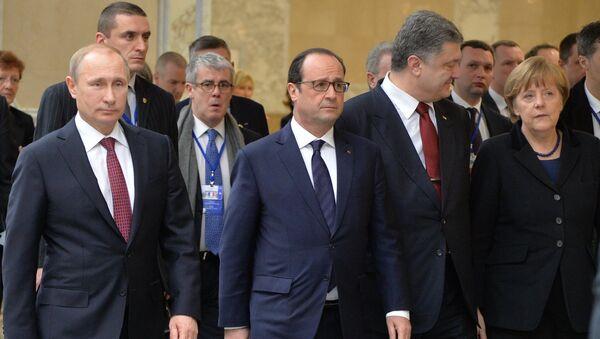 Переговоры лидеров России, Германии, Франции и Украины в Минске - Sputnik France