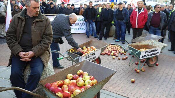 Акция протеста фермеров и садоводов Польши прошла в Варшаве - Sputnik France