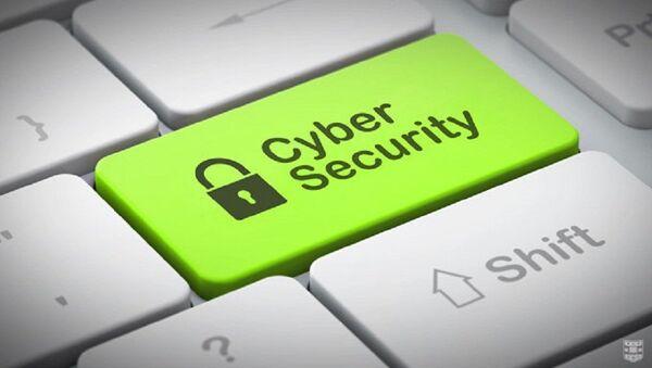Clavier d'ordinateur avec l'inscription cybersécurité sur le bouton Entrée - Sputnik France
