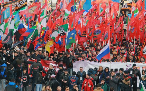 Manifestation organisée au centre de Moscou par le mouvement AntiMaïdan - Sputnik France