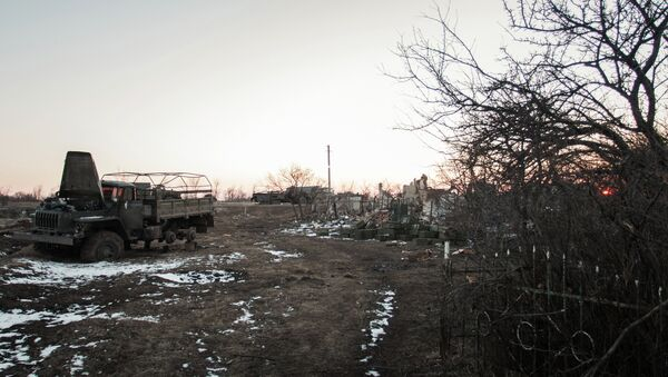 Ситуация в поселке Логвиново на Донбассе - Sputnik France