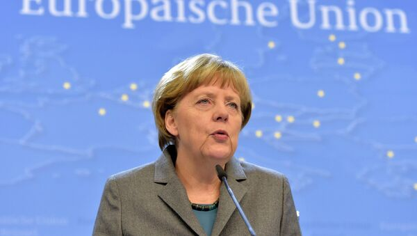 Germany's Chancellor Angela Merkel addresses a news conference after an European Union leaders summit in Brussels - Sputnik France
