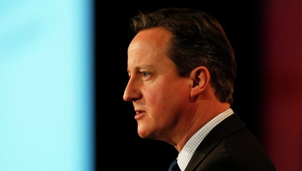 Britain's Prime Minister David Cameron speaks at the British Chambers of Commerce annual meeting in central London February 10, 2015 - Sputnik France