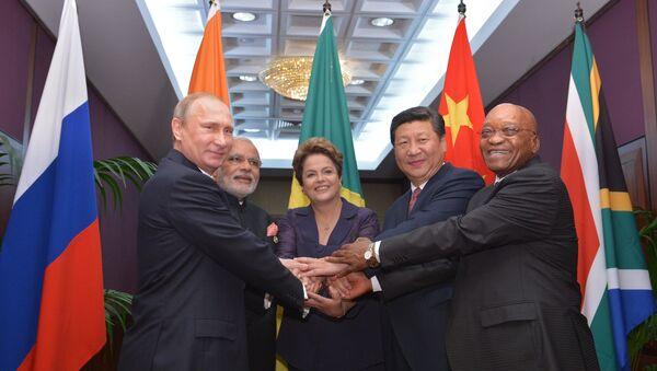 Les dirigeants du groupe BRICS - Sputnik France