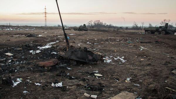 Ситация в поселке Логвиново на Донбассе - Sputnik France