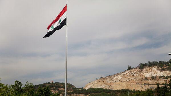 Syrian flag over the capital, Damascus, Syria - Sputnik France