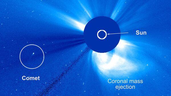 Le télescope américain SOHO a détecté une comète ayant survécu à son survol rapproché du Soleil - Sputnik France