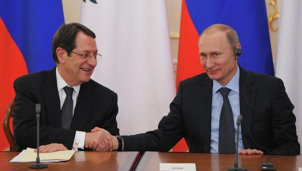 Президент РФ В.Путин провел российско-кипрские переговоры - Sputnik France