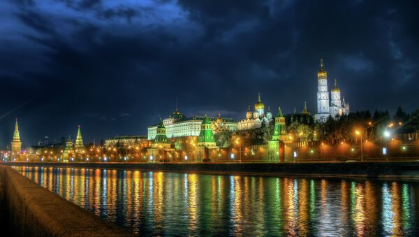 Moscow Kremlin, view from other side of Moscow river. - Sputnik France
