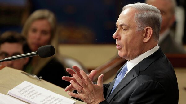 Israeli Prime Minister Benjamin Netanyahu addresses a joint meeting of the U.S. Congress at the Capitol in Washington March 3, 2015. - Sputnik France