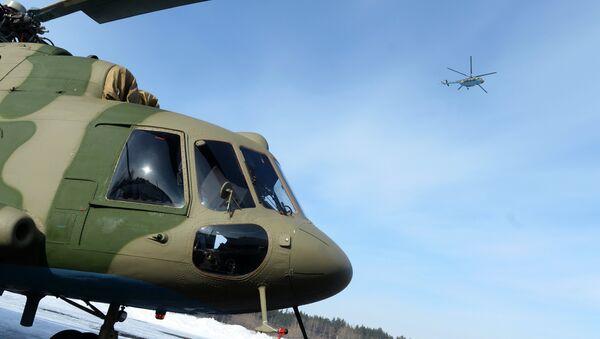 Вертолеты Ми-8 МТВ-5-1 с комплексами РЭБ Рычаг-АВ переданы ВВС России - Sputnik France