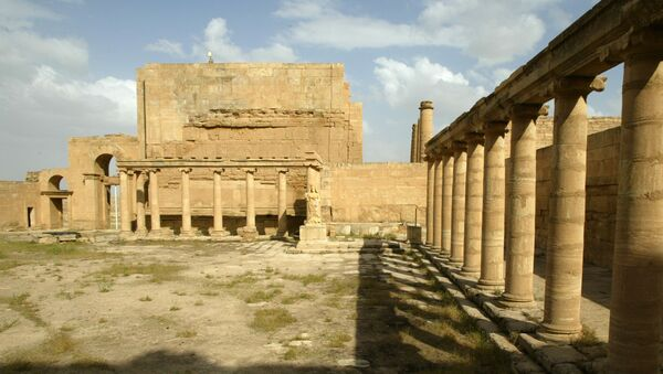 Royal palace at the archaeological site of Hatra in northwest Iraq between Mosul and Samarra - Sputnik France