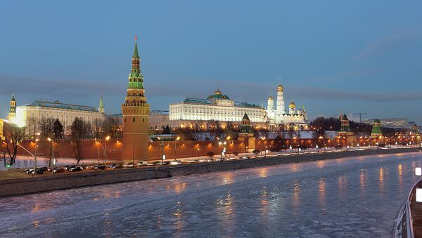 Moscow Kremlin, Moscow river at winter evening - Sputnik France