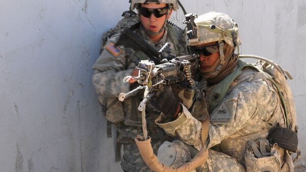 Soldats américains à l'entraînement - Sputnik France