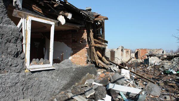 Разрушенные районы рядом с аэропортом Донецка - Sputnik France