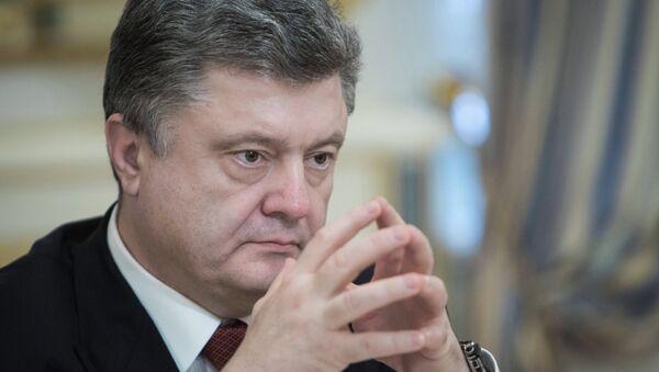 Le président d'Ukraine Petr Porochenko - Sputnik France