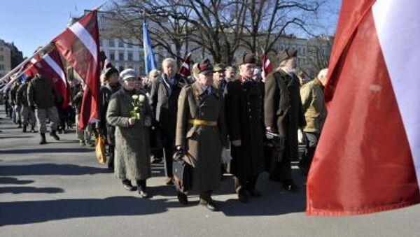 Шествие участников легиона Ваффен СС в Риге - Sputnik France