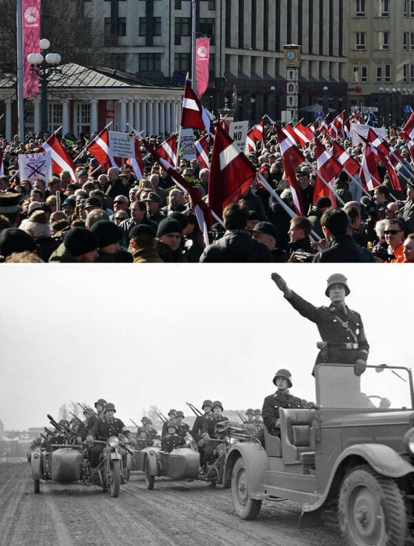 Riga: marche d'anciens SS et crimes des nazis pendant la 2e guerre mondiale - Sputnik France