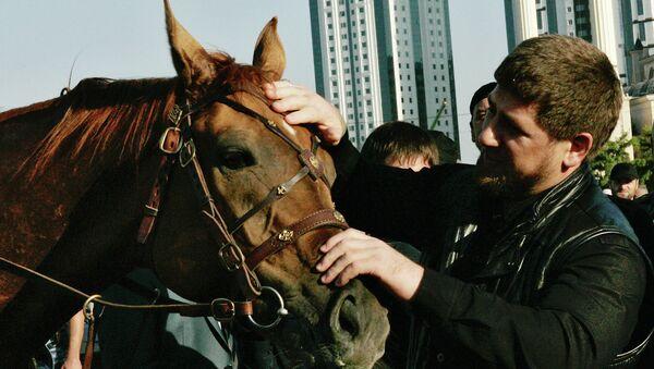Глава Чечни Рамзан Кадыров на 1-м Фестивале верховой езды - Sputnik France