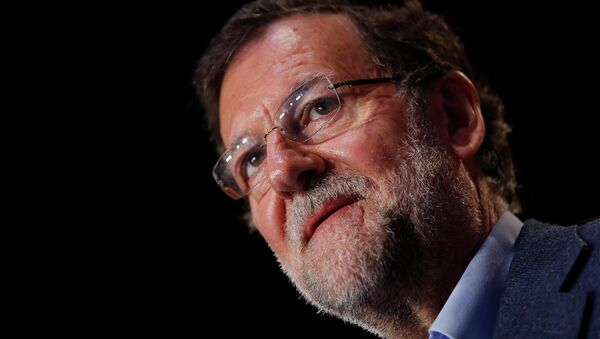 Spain Prime Minister Mariano Rajoy attends a party meeting in the Andalusian capital of Seville March 1, 2015 - Sputnik France