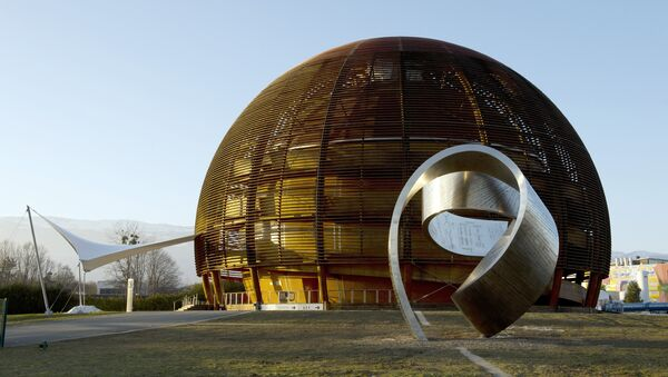 A photo taken on February 10, 2015 shows the Globe of Science and Innovation at the European Organisation for Nuclear Research (CERN) in Meyrin, near Geneva. - Sputnik France
