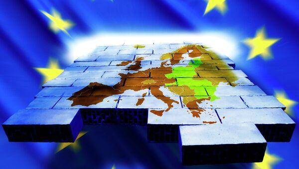 Карта Европы и символика Евросоюза - Sputnik France