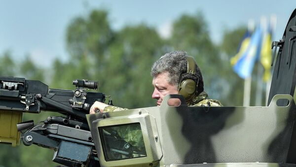 Петр Порошенко посетил Первую оперативную бригаду Национальной гвардии под Киевом - Sputnik France