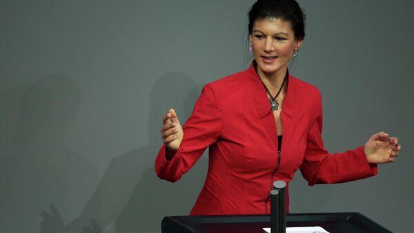 Sahra Wagenknecht, Linke-Vizefraktionschefin im Bundestag - Sputnik France