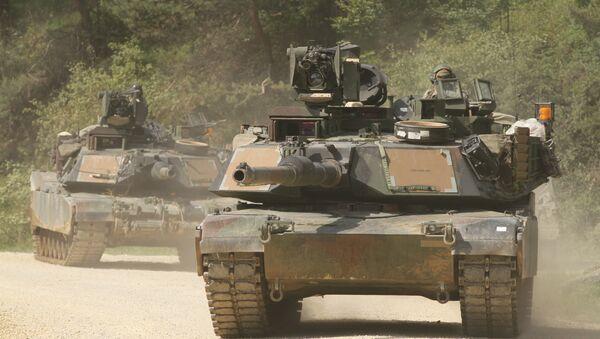 Abrams tanks with Company C, 2nd Battalion, 5th Cavalry Regiment, 1st Brigade Combat Team, 1st Cavalry Division - Sputnik France