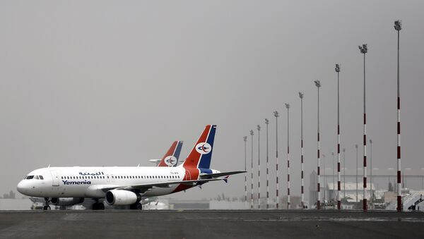 A Yemenia Airways Airbus A320 aircraft is pictured at the Sanaa Airport March 28, 2015 - Sputnik France