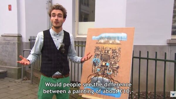 Showing IKEA print to Art experts - Sputnik France