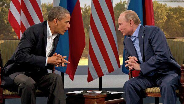 President Vladimir Putin meets with President Barack Obama in Enniskillen, Northern Ireland - Sputnik France