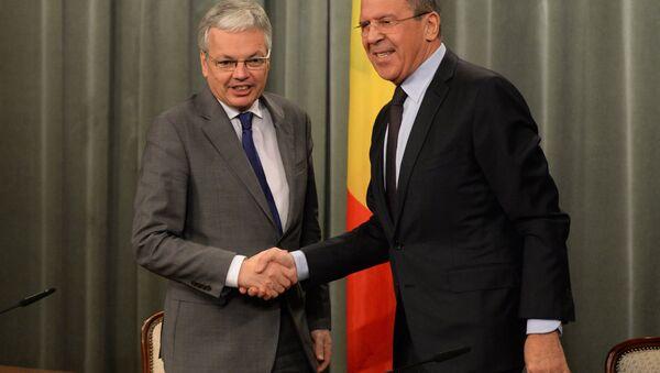 Встреча глав МИД РФ и Бельгии С.Лаврова и Д.Рейндерса - Sputnik France
