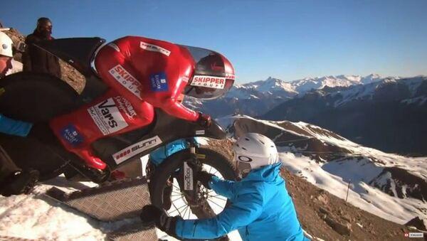A 223 km/h en vélo dans les Alpes - Sputnik France