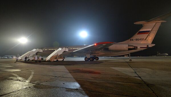 Russian plane with Russians evacuated from Yemen at the Chkalovsky Airport - Sputnik France
