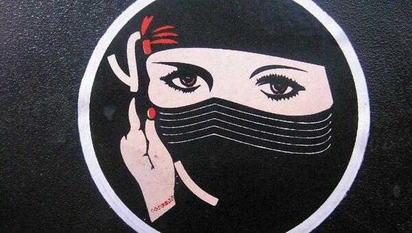 Image d'une femme portant le niqab - Sputnik France